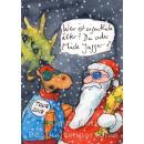 Mick Jagger und der Weihnachtsmann   Gaymann Weihnachtskarte