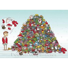 Fröhlicher Schneemann | Weihnachtskarte