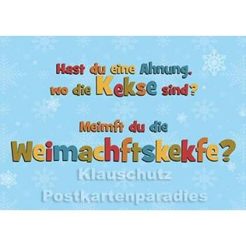 Weihnachtskekse | Weihnachtskarte vom Postkartenparadies