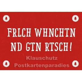 Frlch Whnchtn | Postkarte Weihnachten