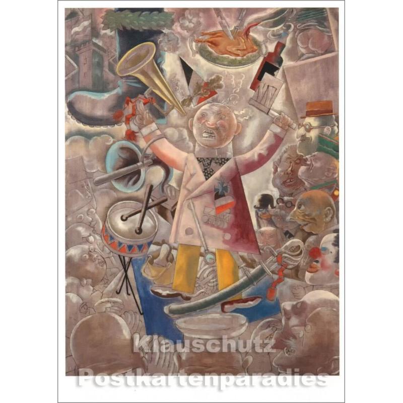 George Grosz Kunstkarte | Der Agitator