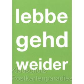 Lebbe gehd weider | Hessen Postkarten von Cityproducts