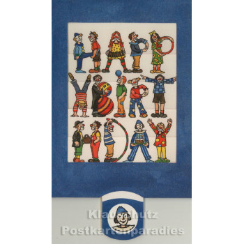 Lebende Postkarte - Clowns Happy Birthday