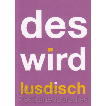 Des wird lusdisch | Lustige Hessen Postkarten