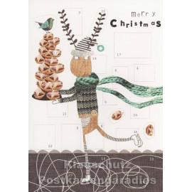 Adventskalender Tiere | Elch mit Weihnachtsgebäck