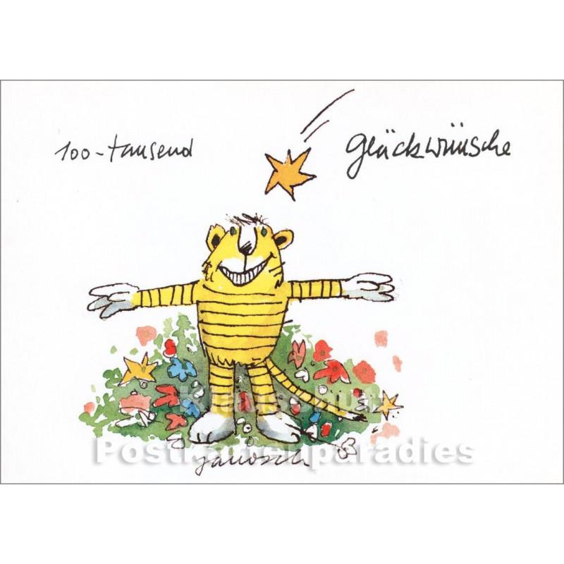 Janosch Geburtstagskarte 100 Tausend Gluckwunsche Vom Tiger