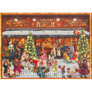 Nostalgie Adventskalender Weihnachtsmarkt