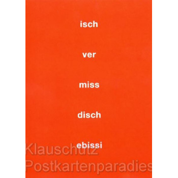 Isch vermiss disch | Lustige Postkarten mit hessischen Portkarten