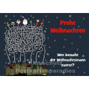 Wimmelbild Besuch vom Weihnachtsmann | Weihnachtskarte