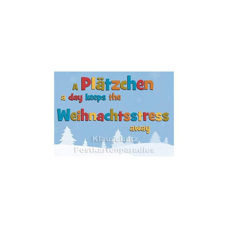 Weihnachtsstress | Postkarte Weihnachten vom Postkartenparadies