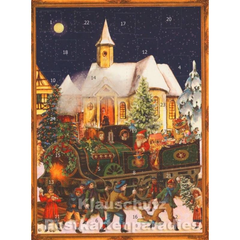 Nostalgische Weihnachtskarten Kostenlos.Postkartenkalender Advent Nostalgie Weihnachten