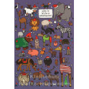 Wimmelbild Doppelkarte - Tiere Weihnachtsgeschenk