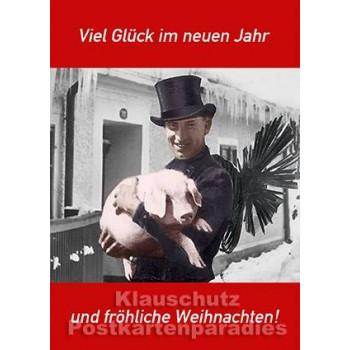 Viel Glück Schwein | Neujahrskarte