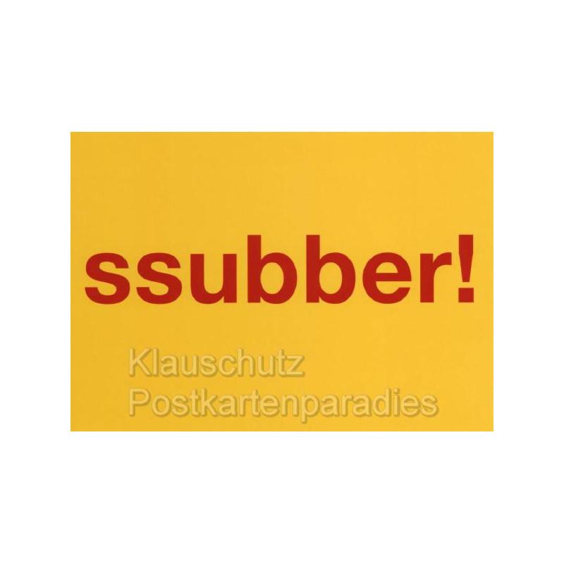 Hessisch Postkarten von Cityproducts - Ssubber!
