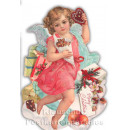 Gestanzte Doppelkarte - Engel - Merry Christmas