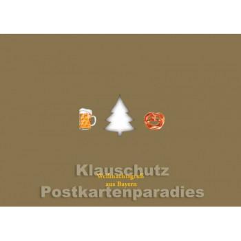 Weihnachtsgruß aus Bayern - gestanzt