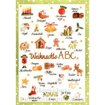 Weihnachts-ABC | Kinder Weihnachtskarte