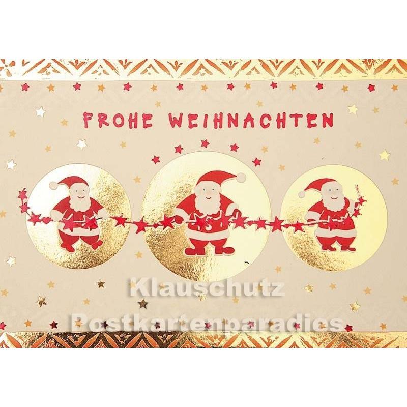 frohe weihnachten weihnachtsm nner mit goldfarbener lackierung. Black Bedroom Furniture Sets. Home Design Ideas