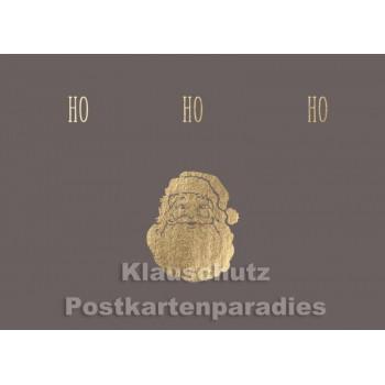 Postkarte Weihnachten - Ho Ho Ho Weihnachtsmann