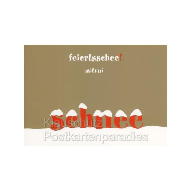 bayrische weihnachtskarten feierts schee