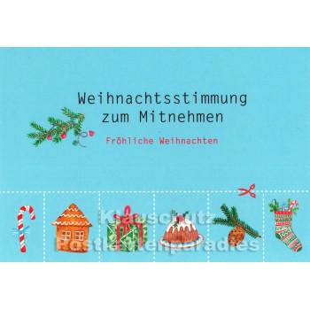 Weihnachtsstimmung zum Mitnehmen - Postkarte