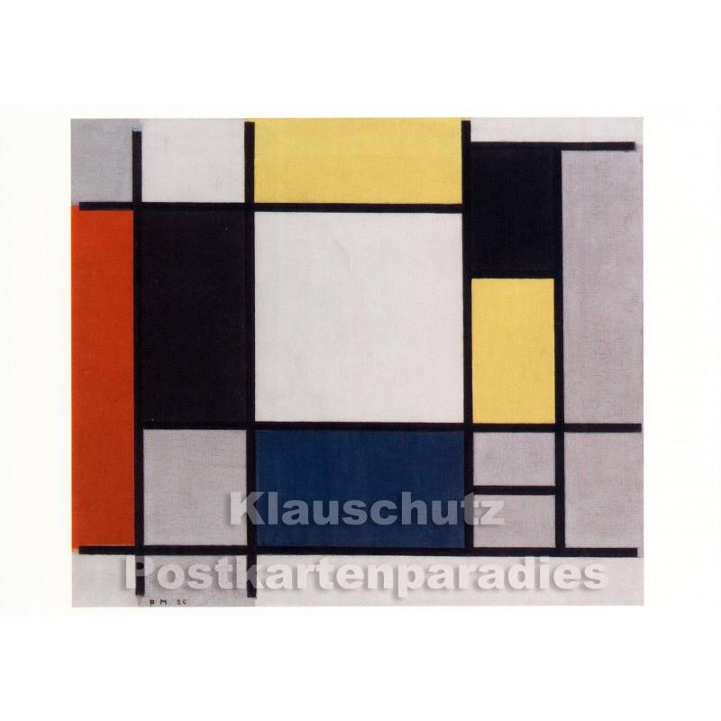 Piet Mondrian - Komposition | Kunst Postkarte