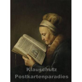 Lesende Frauen - Postkartenbuch