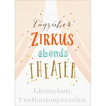 Tagsüber Zirkus | Postkarte