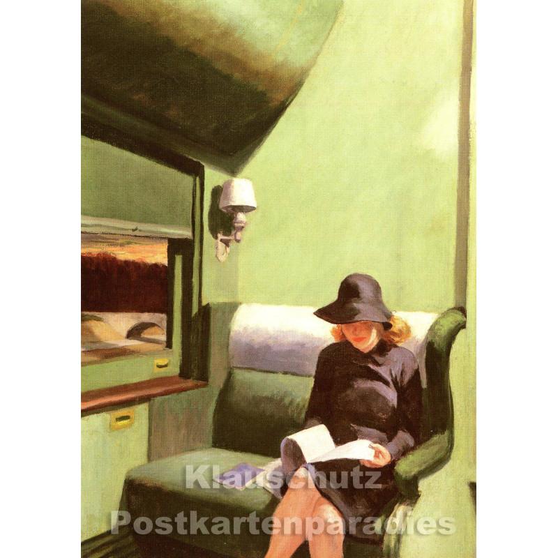 Edward Hopper - Abteil C | Kunst Postkarte