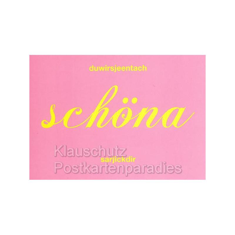 Berlin Sprüche Postkarten von Cityproducts - Jeden Tag schöna