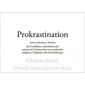 Prokrastination | Wortschatz Postkarte