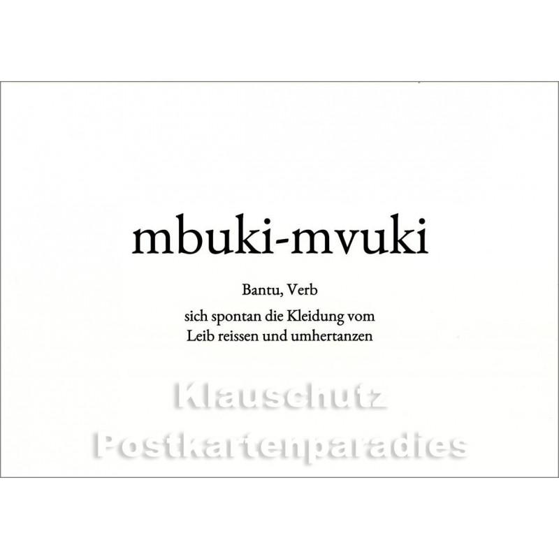 mbuki-mvuki | Wortschatz Postkarte