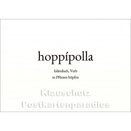 hoppipolla | Wortschatz Postkarte