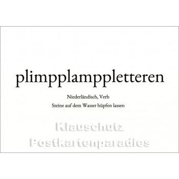 plimpplamppletteren | Wortschatz Postkarte
