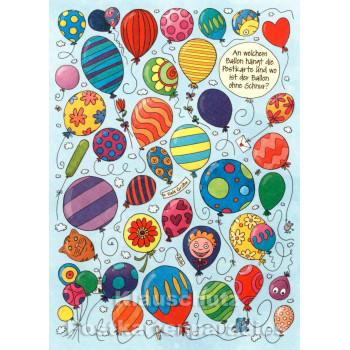 Wimmelbild Postkarte - Luftballons