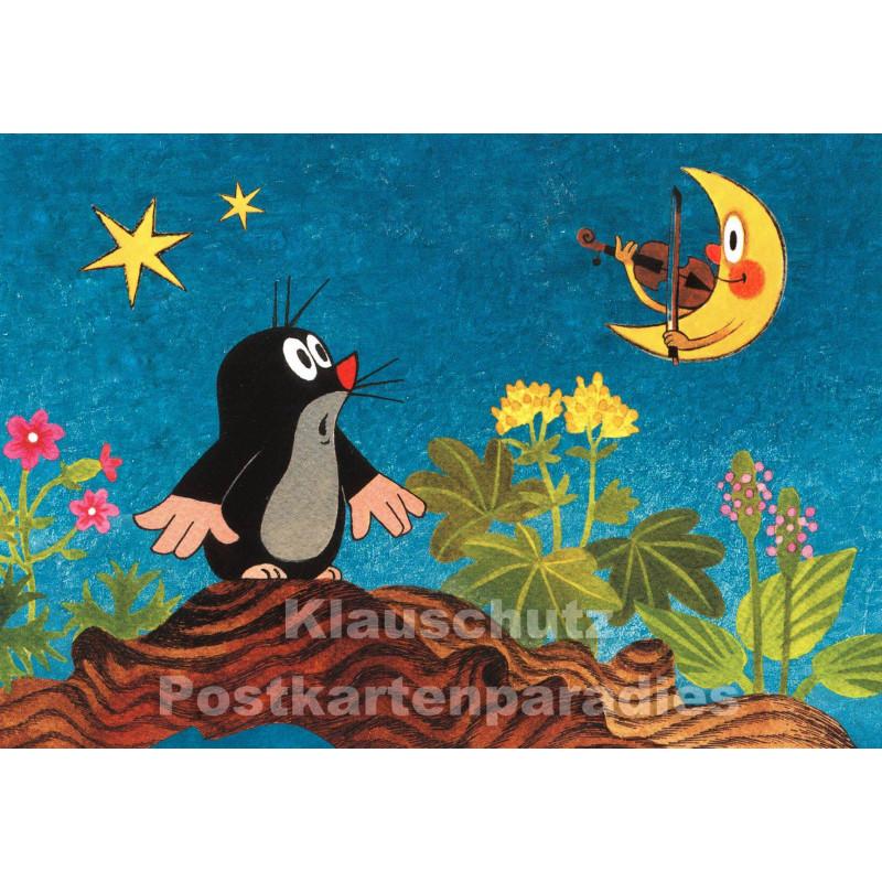 Postkarte | Der kleine Maulwurf und der Mond