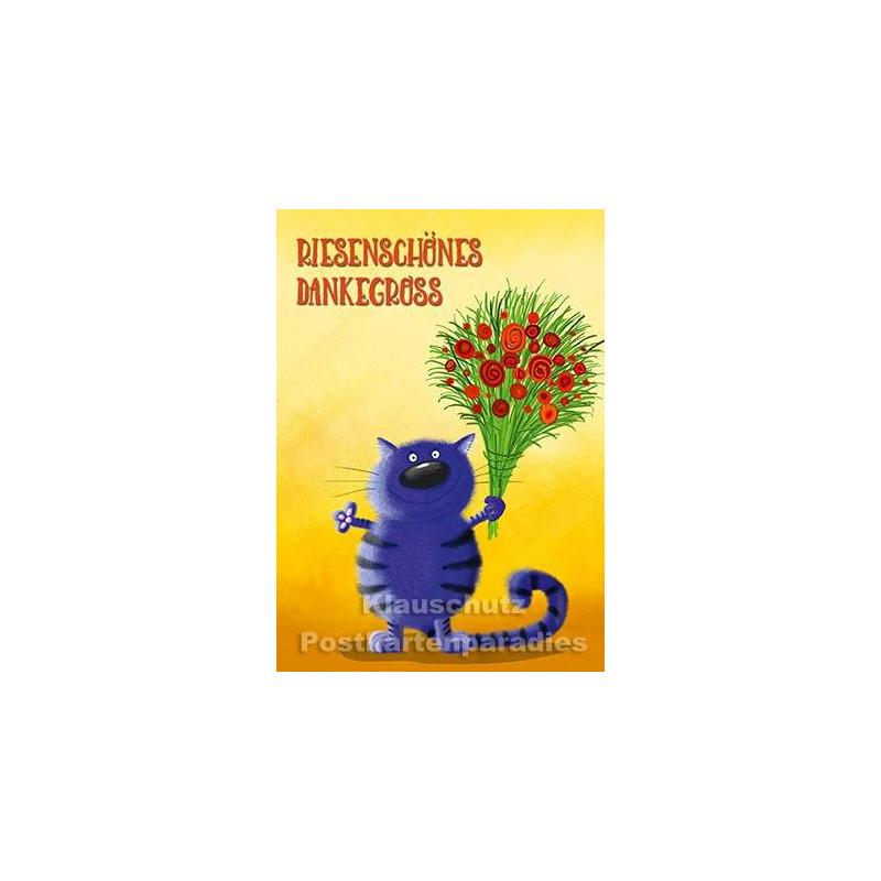 Riesenschönes Dankegroß | Danke Postkarte vom Postkartenparadies
