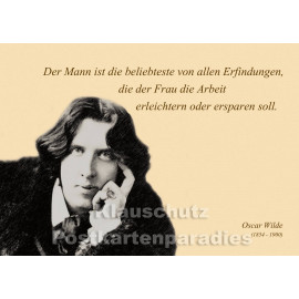 Oscar Wilde | Zitat Postkarte - Der Mann