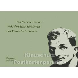 Ringelnatz- Stein der Weisen | Zitat Postkarte vom  Postkartenparadies