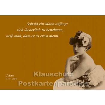 Colette | Zitat Postkarte - Ein Mann
