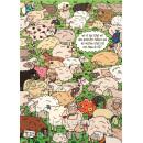 Wimmelbild Postkarte - Schaf mit Pullover