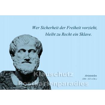 Aristoteles | Zitat Postkarte - Freiheit