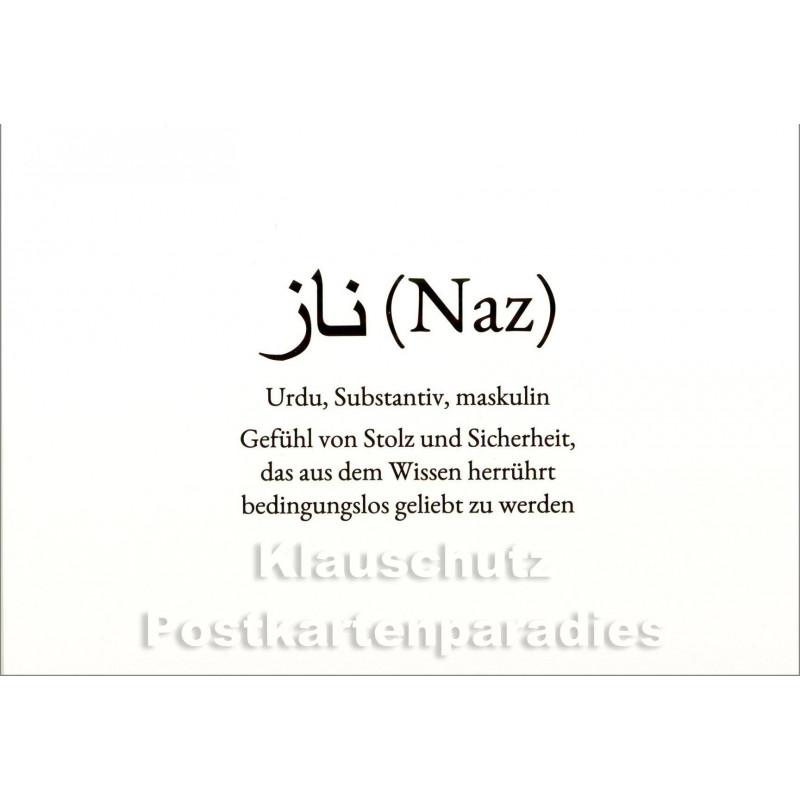 Naz | Wortschatz Postkarte