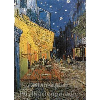 Doppelkarte   Kunstkarte Van Gogh - Caféterrasse