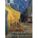 Doppelkarte | Kunstkarte Van Gogh - Caféterrasse