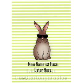 Taurus Postkarte Ostern - Mein Name ist Hase