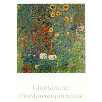 Gustav Klimt  Kunstkarte | Bauerngarten