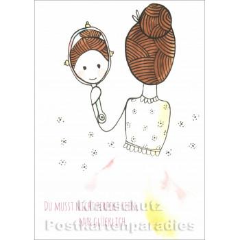 Du musst nicht perfekt sein | Postkarte