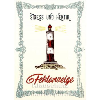 Stress und Hektik - Küsten Postkarten