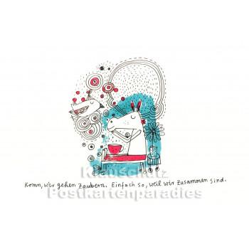 Karindrawings Postkarten | Wir gehen zaubern